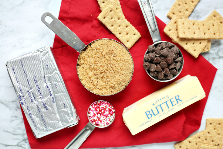 Cookie Dough Dip - Ingredients measured out