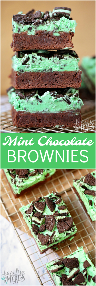 Mint Chocolate Brownies - Family Fresh Meals Recipe -