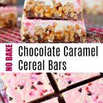 No Bake Chocolate Caramel Cereal Bars -- family fresh meals