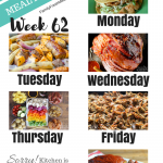 Easy Weekly Meal Plan Week 62