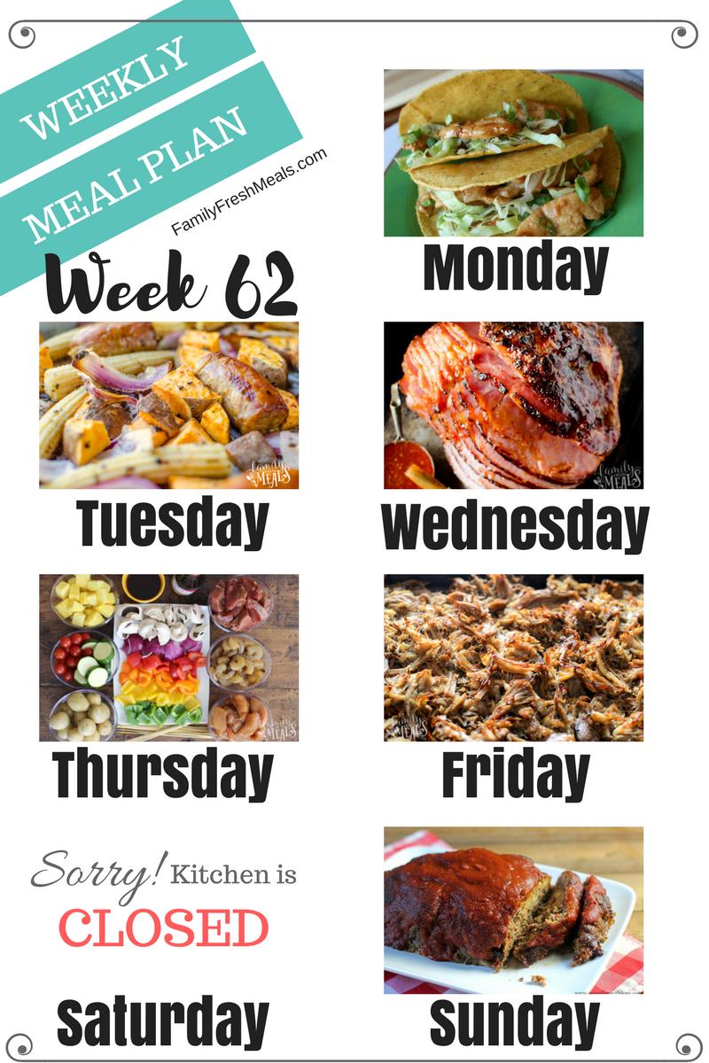 easy weekly meal plan week 62