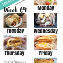 Easy Weekly Meal Plan Week 64