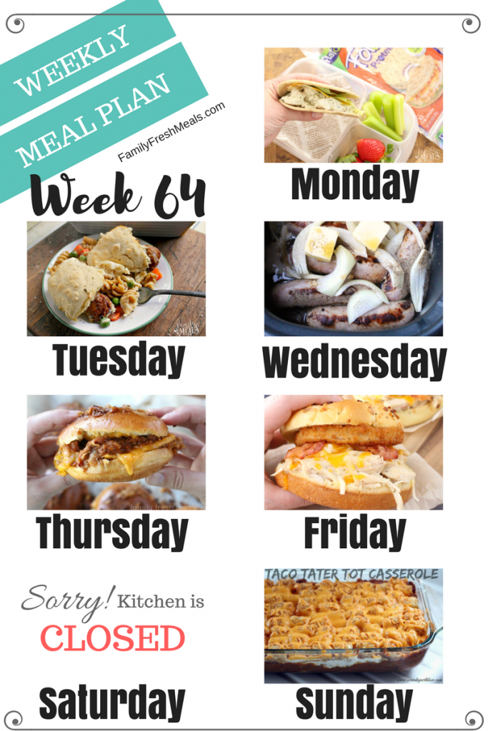 easy weekly meal plan week 64 family fresh meals