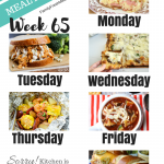 Easy Weekly Meal Plan Week 65