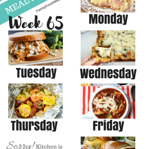 Easy Weekly Meal Plan Week 65 - Family Fresh Meals