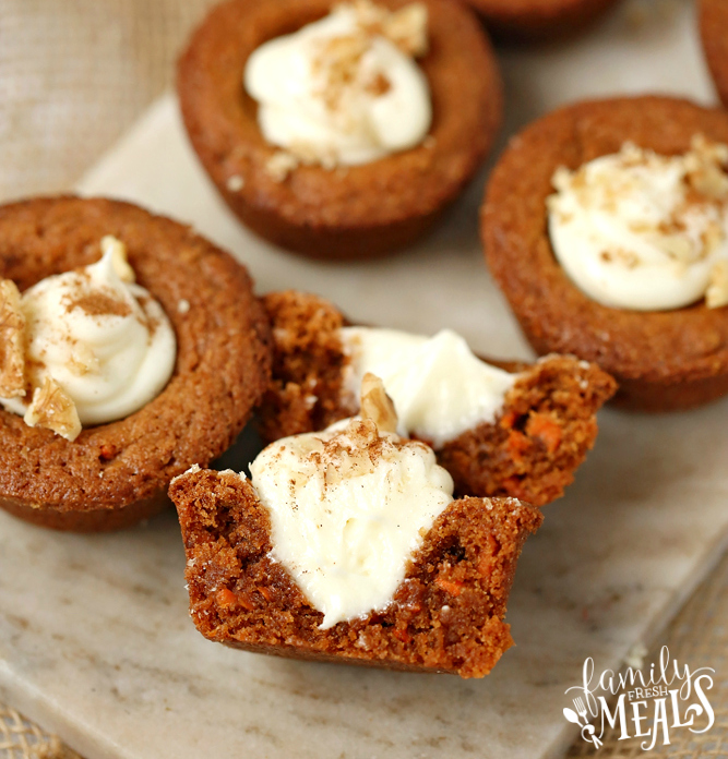 Carrot Cake Cookie Cups Recipe - Family Fresh Meals