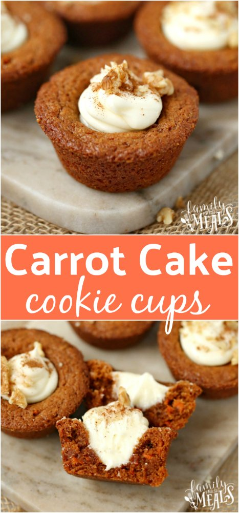 Carrot Cake Cookie Cups Recipe -- Family Fresh Meals -