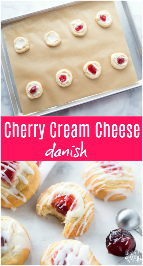 Cherry Cream Cheese Danish - Family Fresh Meals