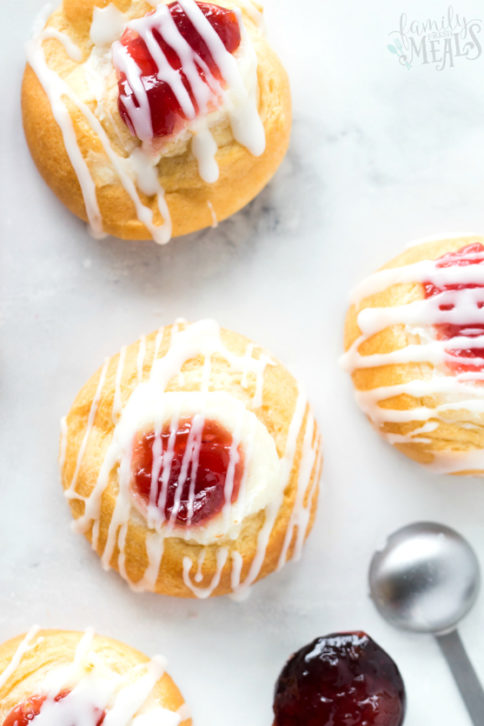 Cherry Cream Cheese Danish - Family Fresh Meals Recipe