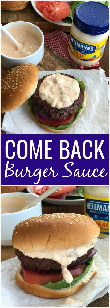 Come Back Burger Sauce Recipe - Family Fresh Meals