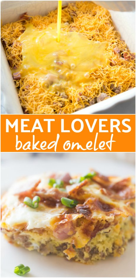 Meat Lovers Baked Omelet - Family Fresh Meals -