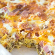 Meat Lovers Baked Omelet
