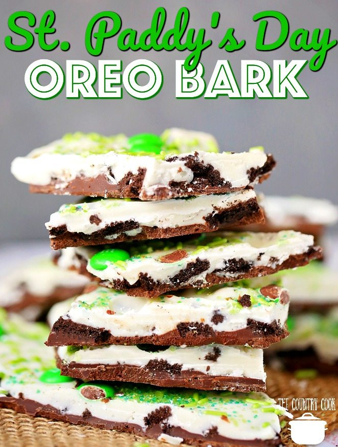 Green Treats For St. Patrick's Day - St. Patrick's Day Oreo Bark