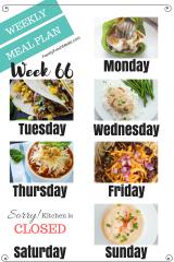 Easy Weekly Meal Plan Week 66