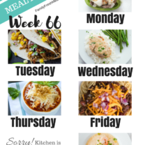 Easy Weekly Meal Plan Week 66