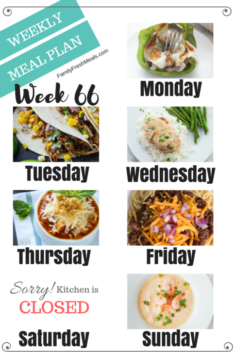 Easy Weekly Meal Plan Week 66 - Family Fresh Meals