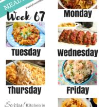 Easy Weekly Meal Plan Week 67