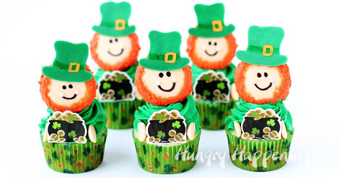 Green Treats For St. Patrick's Day - Cupcakes for st. Patrick's day