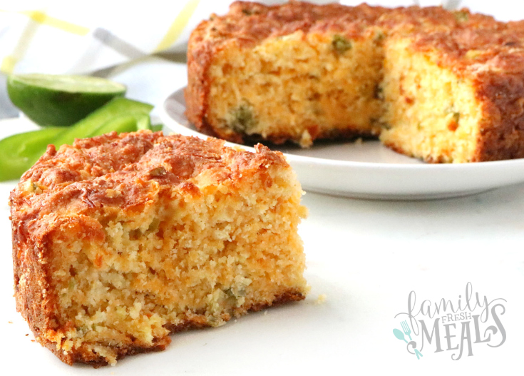 Cheesy Mexican Cornbread Recipe - Slice of corn bread