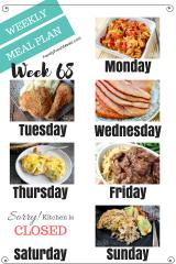 Easy Weekly Meal Plan Week 68