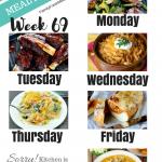 Easy Weekly Meal Plan Week 69