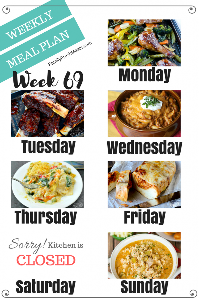 Easy Weekly Meal Plan Week 69 - Family Fresh Meals