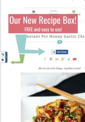 New Family Fresh Meals Recipe Box