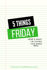 Five Things Friday Week 8