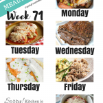 Easy Weekly Meal Plan Week 71