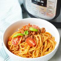 Instant Pot Spaghetti Dinner