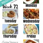 Easy Weekly Meal Plan Week 72