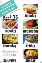 Easy Weekly Meal Plan Week 73