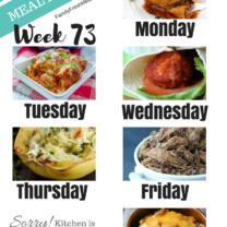 Easy Weekly Meal Plan Week 73