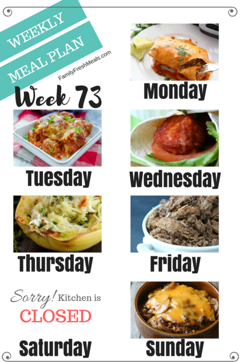 Easy Weekly Meal Plan Week 73 - Family Fresh Meals