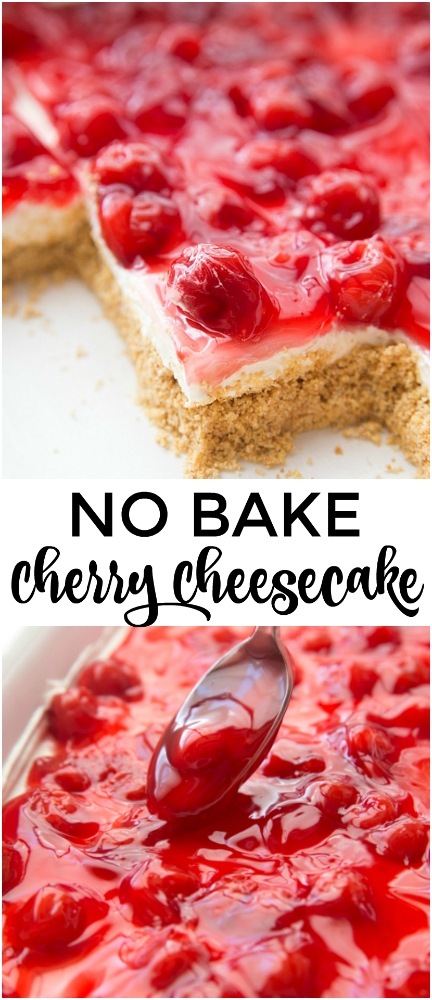No Bake Cherry Cheesecake Dessert Recipe - Family Fresh Meals