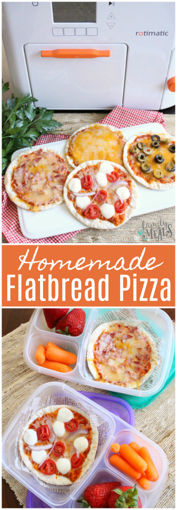 Homemade Flatbread Pizzas with Rotimatic - Family Fresh Meals