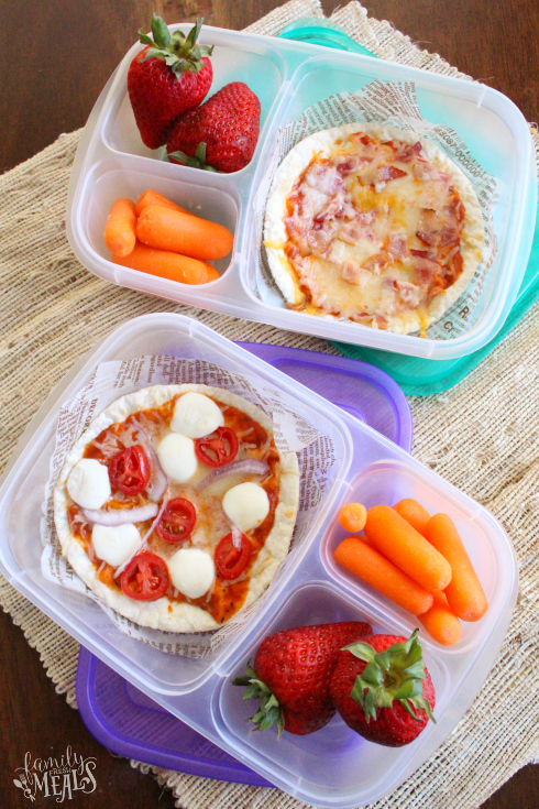 Lunch box ideas for Indian Adults and Kids _ Flatbread Pizzas packed for lunch