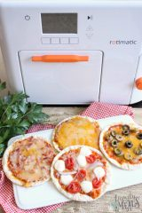 Homemade Flatbread Pizzas with Rotimatic
