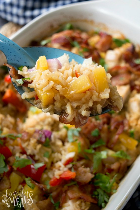 Aloha Pineapple Chicken Rice Casserole - Family Fresh Meals Recipe