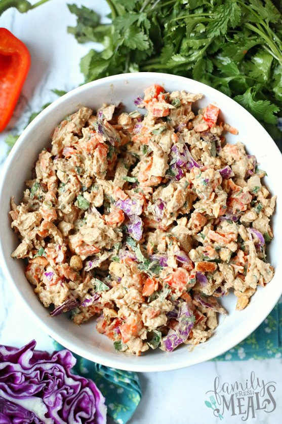 Creamy Thai Chicken Salad Recipe - Family Fresh Meals Recipe
