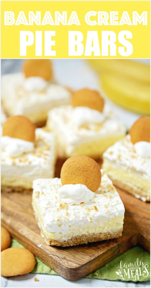 Easy Banana Cream Pie Bars -- Family Fresh Meals Recipe