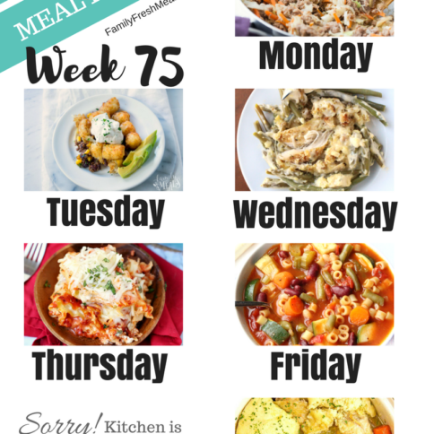 Easy Weekly Meal Plan Week 75