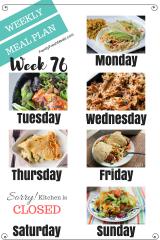Easy Weekly Meal Plan Week 76