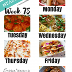 Easy Weekly Meal Plan Week 78