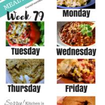 Easy Weekly Meal Plan Week 79
