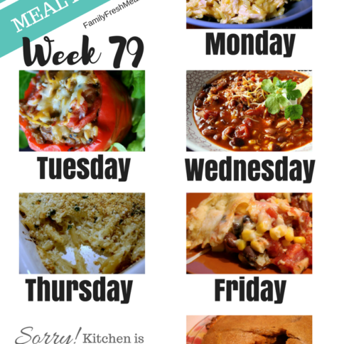 Easy Weekly Meal Plan Week 79