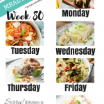 Easy Weekly Meal Plan Week 80