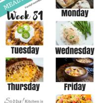 Easy Weekly Meal Plan Week 81