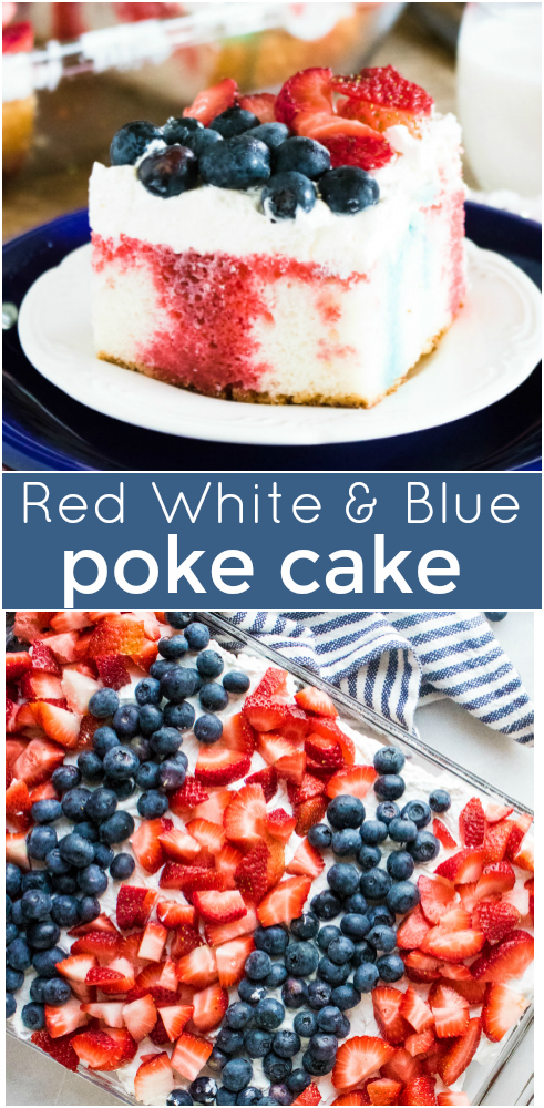 Red White and Blue Poke Cake Recipe - Family Fresh Meals Recipe