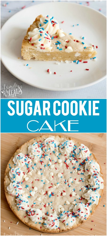 Sugar Cookie Cake Recipe -- Family Fresh Meals Recipe